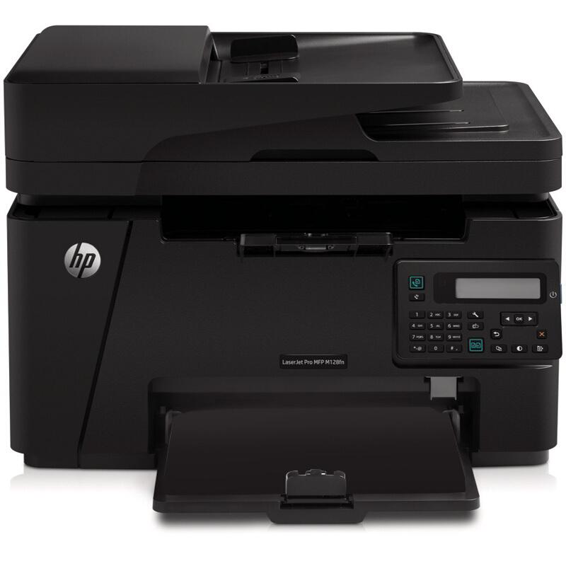 惠普(HP)LaserJet Pro MFP M128fn黑白激光多功能一体机 打印复印扫描传真